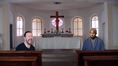 Ricky Gervais and Kanye West in church together