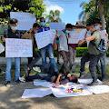 Kasus Arogansi Oknum Pol PP Terhadap Jurnalis, Wartawan Lotim Turun Aksi