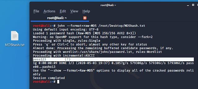 Decrypting MD5 hash: