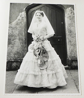 Brenda Gossage in bride's dress