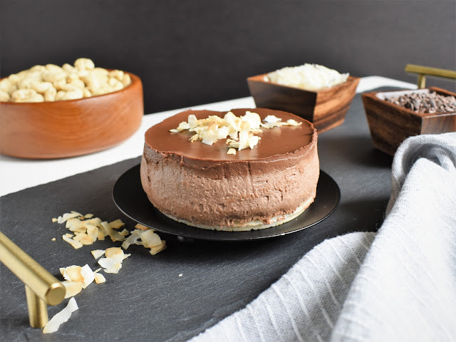 Chocolate Coconut No-Bake Vegan Cheesecake