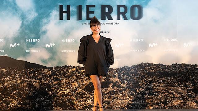 Candela Peña en la presentación del rodaje de la 2ª temporada de 'Hierro'