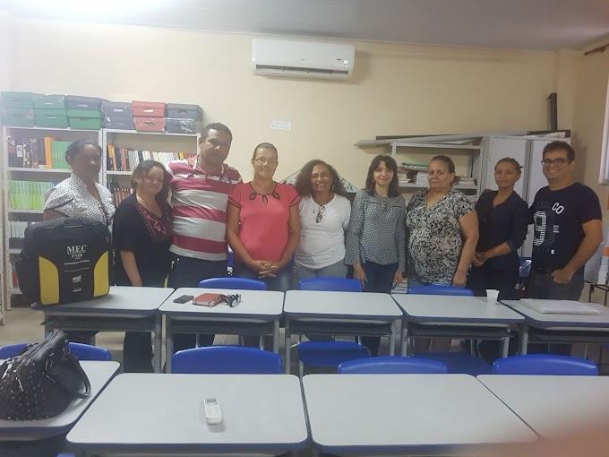 NTE na Semana Pedagógica escola  Laurindo Cândido