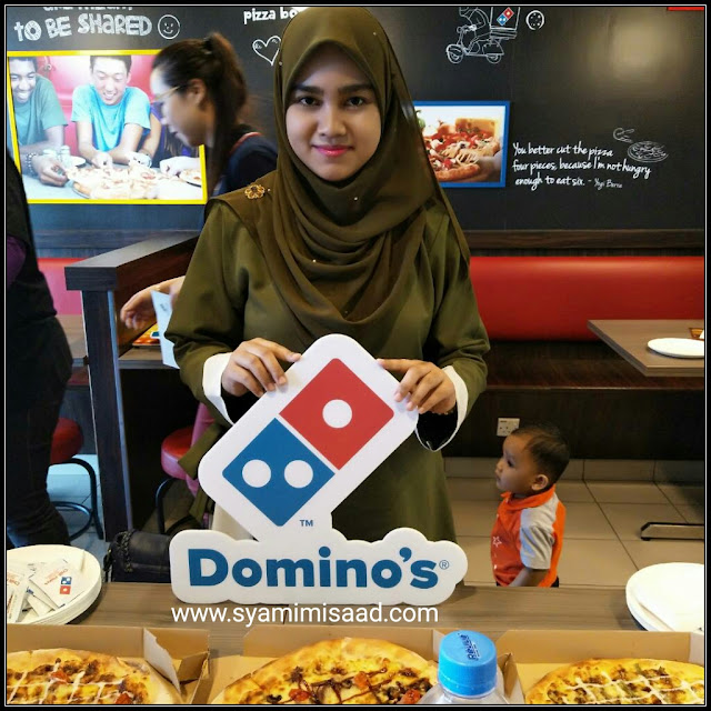 Keenakan Bersama Samyeang Domino's Pizza dan Kepak Ayam Haseyo yang terbaik!