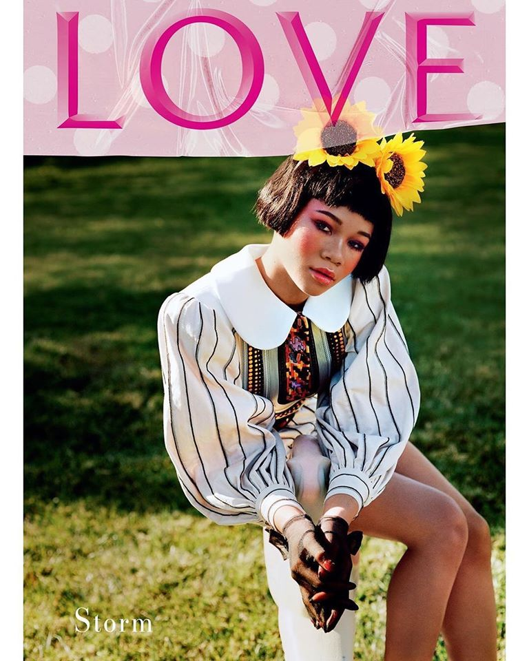 Euphoria stars Zendaya and Storm Reid cover LOVE Magazine Spring/Summer 2020