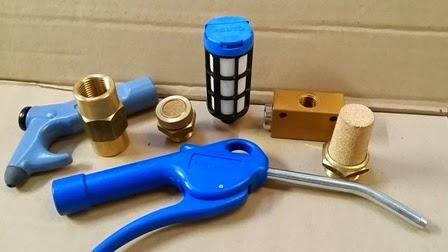 Accesorios neumática pistolete de soplado, silenciador, regulador de caudal