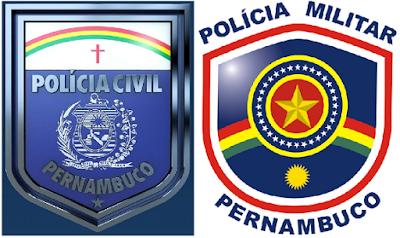 Resultado de imagem para policia militar e civil de PE