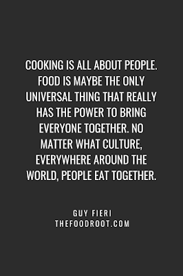 Food is maybe the only universal thing that really has the power to bring everyone together.