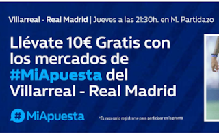 william hill promo 10 euros Villarreal vs Real Madrid 3 enero