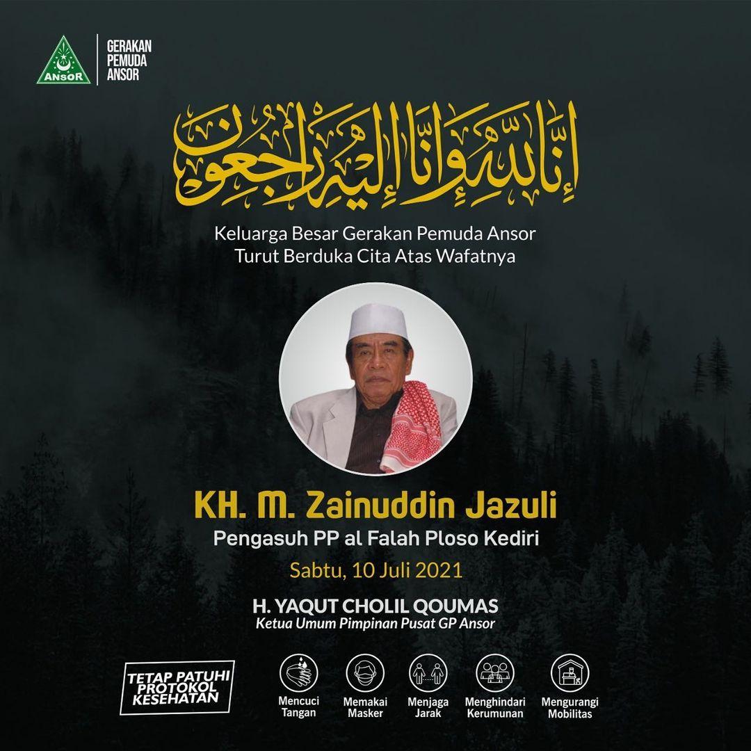 Kabar Lelayu, KH. M. Zainuddin Jazuli Wafat
