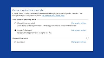 Cara Mengaktifkan Mode Ultimate Performance Power Plan di Windows 10