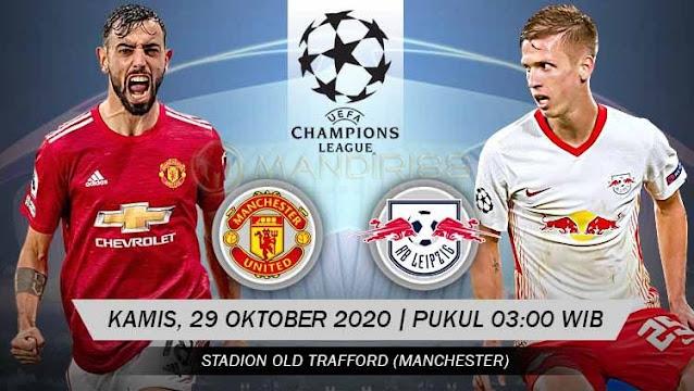 Prediksi Manchester United Vs RB Leipzig, Kamis 29 Oktober 2020 Pukul 03.00 WIB