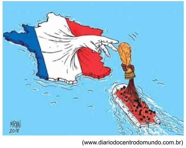 Observe o desenho do caricaturista M. Rifaï