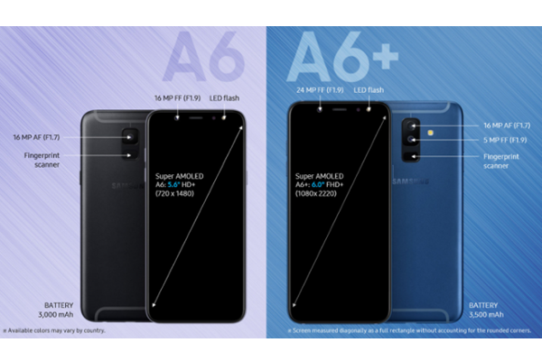SAMSUNG Galaxy A6 and Galaxy A6+ announced with Infinity Display and Android Oreo