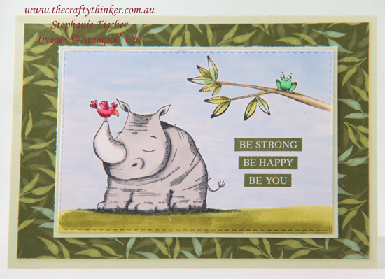 #thecraftythinker  #cardmaking  #stampinup  #animalouting  #childscard #stampinblendsalcoholmarkers , Animal Outing, Stampin' Blends alcohol markers, child's card, Stampin' Up Australia Demonstrator, Stephanie Fischer, Sydney NSW