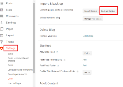 Cara menyimpan artikel blog ke file .xml