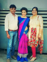 Kriti Kharbanda With Her Father and Mother