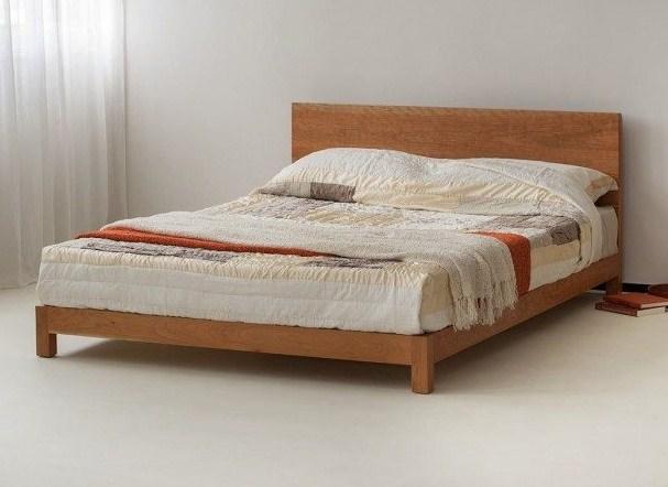 Model Tempat Tidur Kayu Minimalis Sederhana