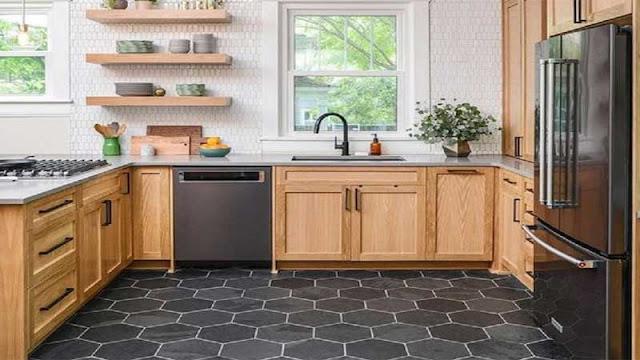 alternatif lantai keramik untuk dapur