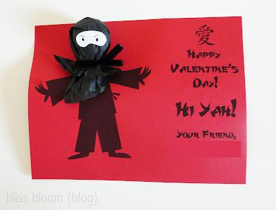 10 Free Ninja Printable Valentines @michellepaigeblogs.com
