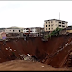 Houses collapse at erosion site in Onitsha