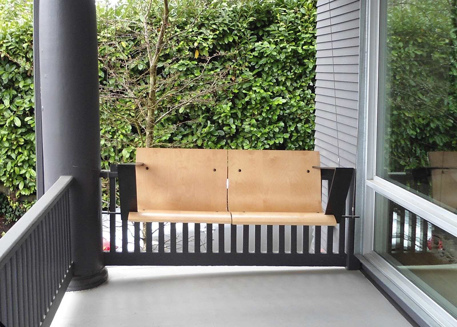 revisiting one of our favorite objects  weld and glue furniture  - bent plywood porch swing