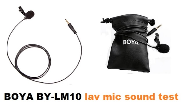 BOYA BY-LM10 microphone sound test