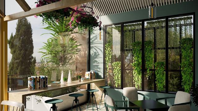 Coffee Shop Sketchup Interior Scene , 3d free , sketchup models , free 3d models , 3d model free download