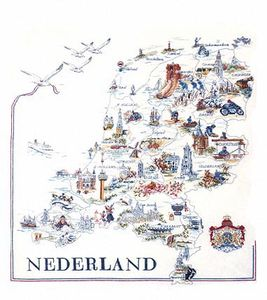 Нидерланды карта