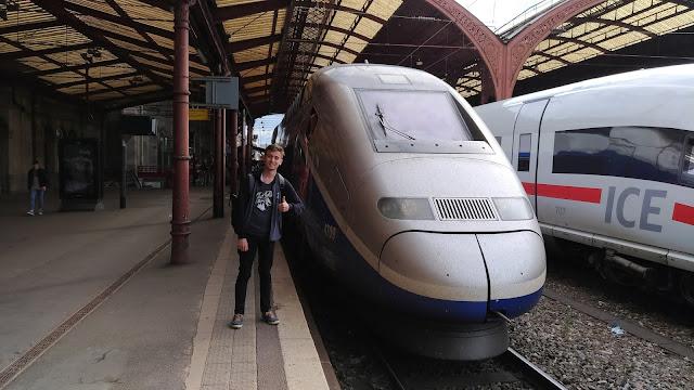 Harun İstenci Almanya'dan Fransa Strasbourg'a tren ile gitti...