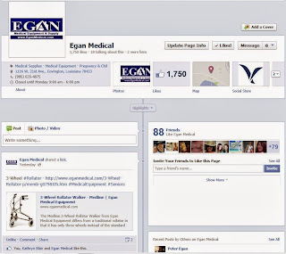 EGAN Medical Equipment Facebook Coupon