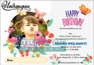 template undangan ulang tahun anak