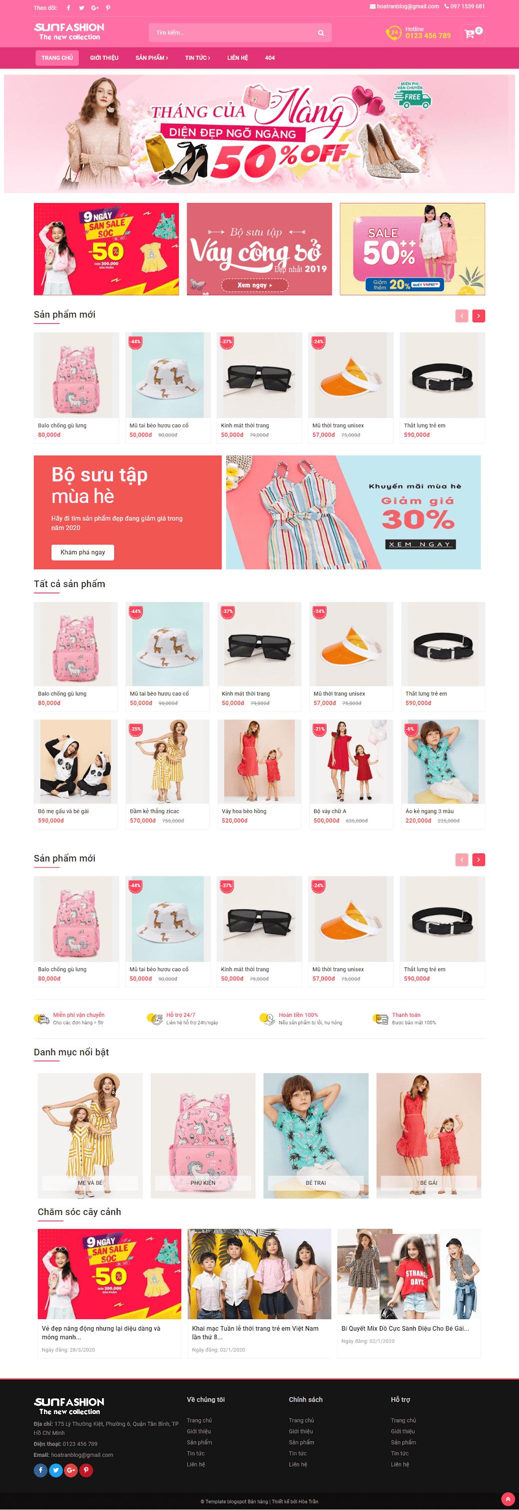 Template blogspot bán hàng quần áo thời trang