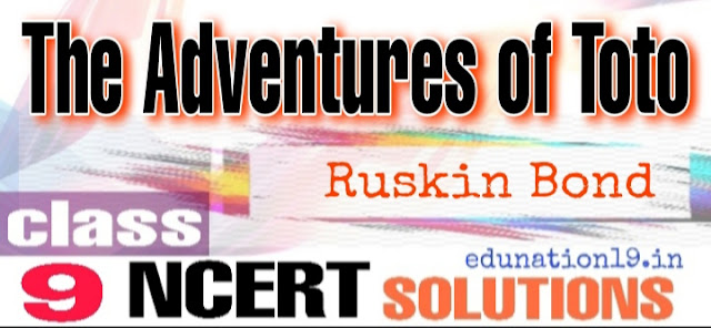 The Adventures of Toto class 9 NCERT solutions