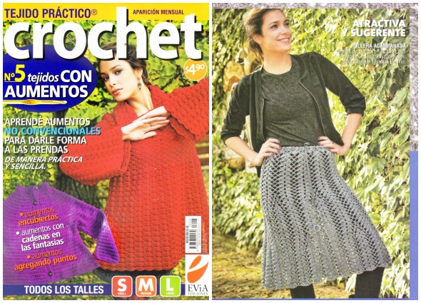revista, crochet, aumentos, tutoriales, patrones ganchillo