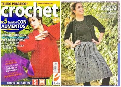 Revista aprender AUMENTOS de crochet no convencionales