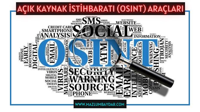 Açık Kaynak İstihbaratı (OSINT) Araçları