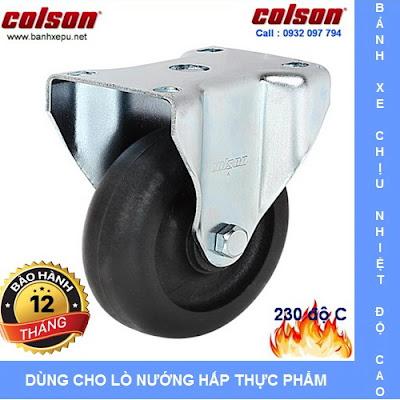 Bánh xe đẩy chịu nhiệt 230 độ C liên tục phi 75 Colson | A2-3308-52HT banhxedayhang.net