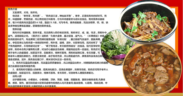 information about dog meat
