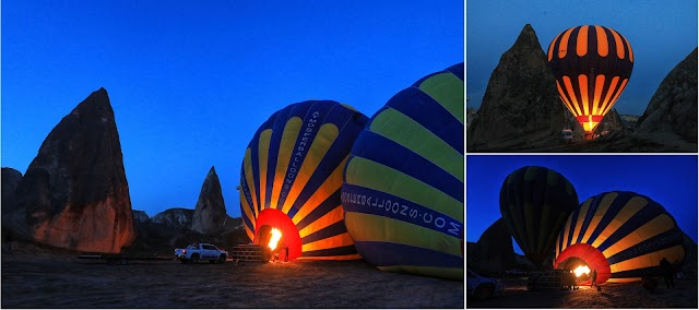 The world's most beautiful hot air balloon flying location