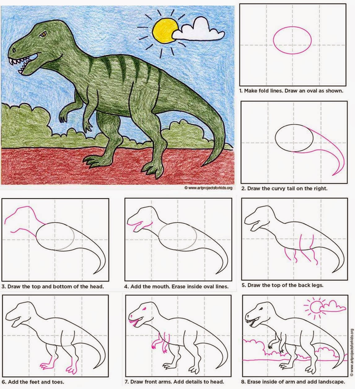 Draw a T-Rex   Art Projects for Kids   Bloglovin'