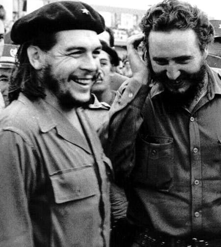 Ernesto Guevara with Fidel Castro
