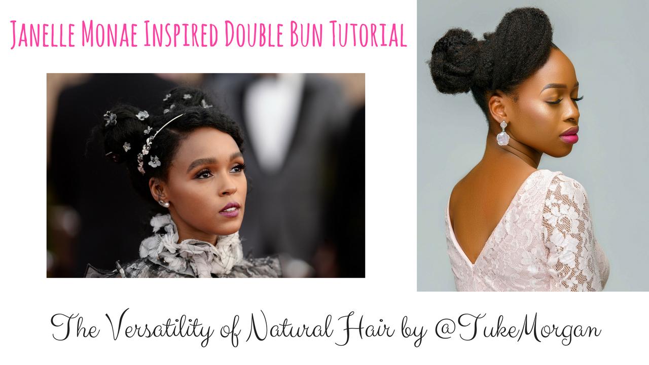 Double Bun Natural Hair Tutorial