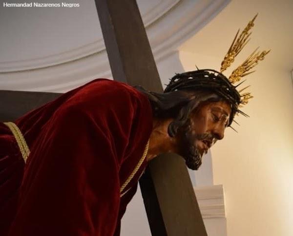 La imagen del Cristo de las Tres Caídas de la Hermandad de los Nazarenos Negros de Valverde, sometida a estudio radiológico