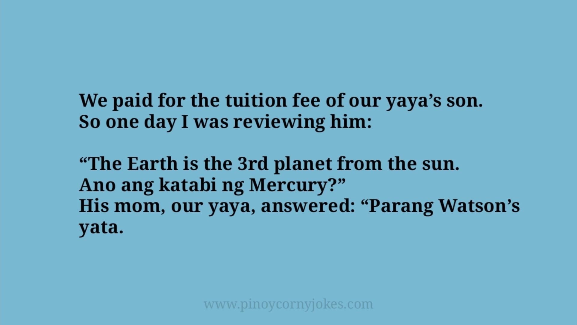 tuition yaya pinoy jokes