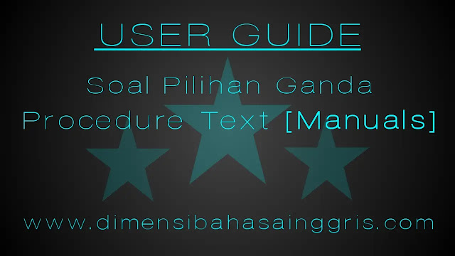 DBI - Soal manuals text pilihan ganda