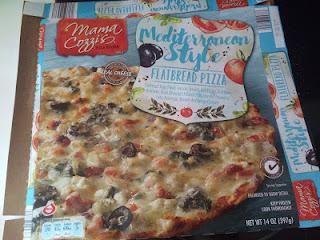 Box of Mama Cozzi's Mediterranean Style Flatbread Pizza, from Aldi