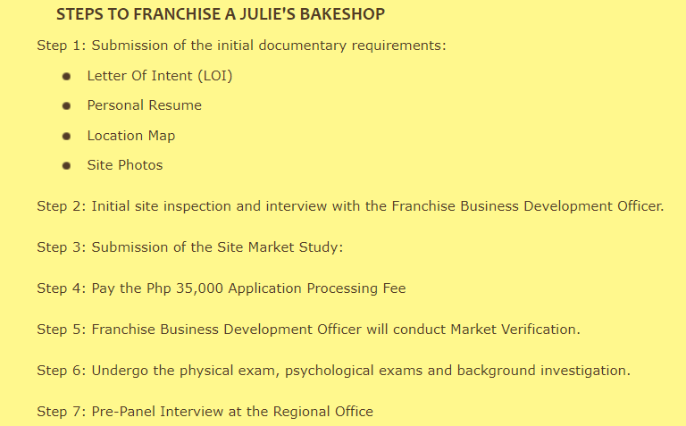 business plan of julies bakeshop