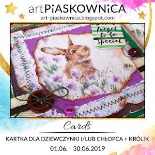 CARDS - kartka dla chłopca lub dziewczynki + KRÓLIK