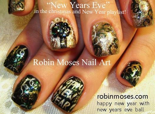 Nail Art By Robin Moses Nail Art New Year S Nye Nail Art New